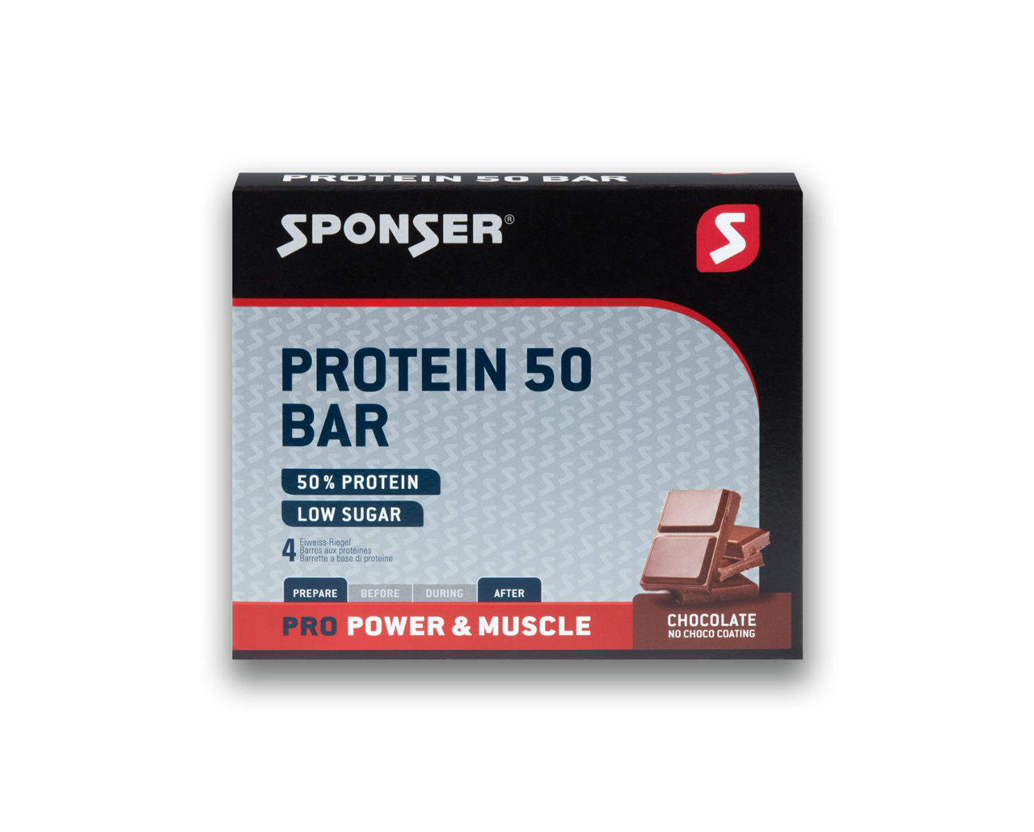 Protein 50 Bar Chocolate 4 x 50 g - MHD 7.2019